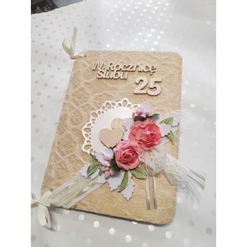 Drewniany telegram z 25 rocznicy ślubu
