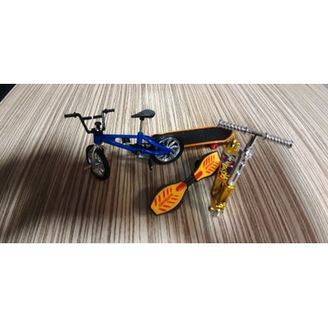 Finger Mini Hulajnoga Złota + rower + deskorolka