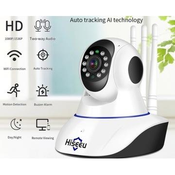 Kamera IP Hiseeu 1080P WiFi czujnik ruchu 2MP
