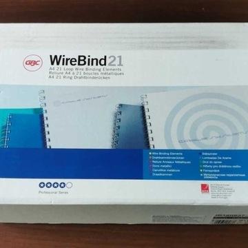 WireBind Grzbiety drutowe GBC 21zw. 10mm srebrne