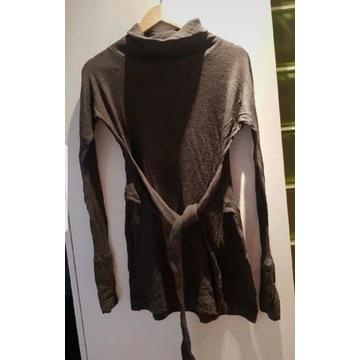 Sweterek/Tunika Steel 38 M wełna+bawełna+ jedwab