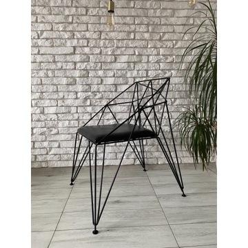 Metalowe krzesło nowoczesne. LOFT. Industrialne