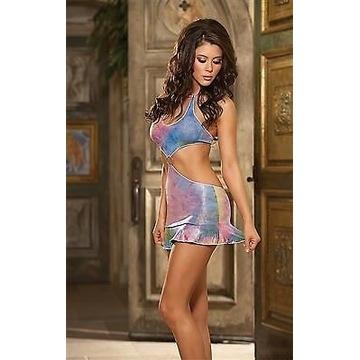 Dreamgirl Sexy mini sukienka Rainbow L