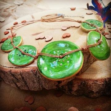 Korale, Ceramika, Zielone, Mvcha Nie Siada