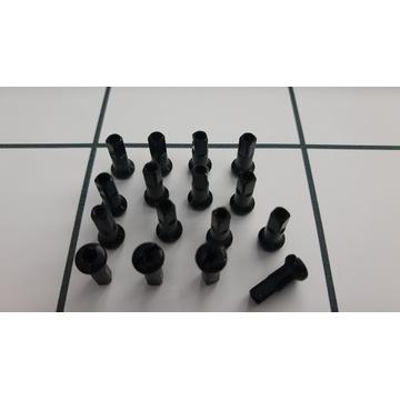 Nypel szprych czarny 12mm 2.0 chyba Swiss 100szt.