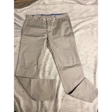 Nowe siwe spodnie eleganckie męskie szare chinosy