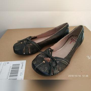 BATA baleriny szaro czarne 37