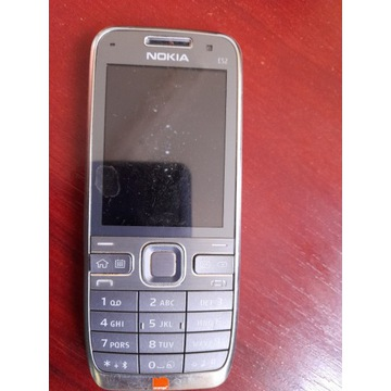 Nokia E52 Srebrny Made in Finland Orange