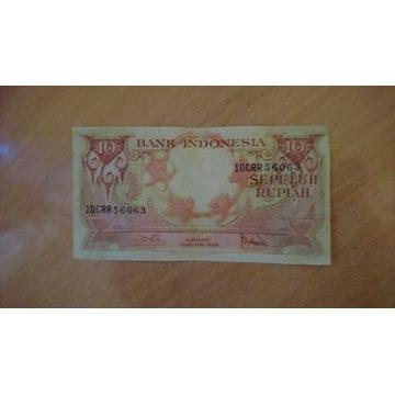Indonezja 10 rupii 1959