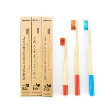 Zestaw rodzinny 2+1 bambusowe szczoteczki