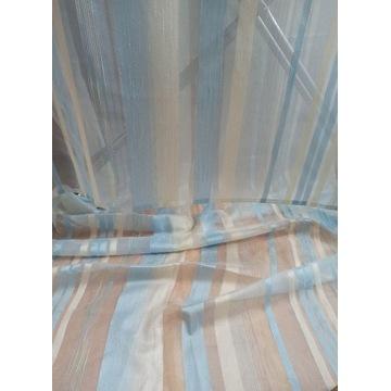 firanka ecri-niebieski 115cm x 300cm