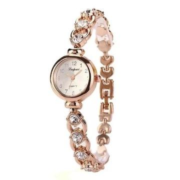 Stylowy zegarek damski z kryształkami