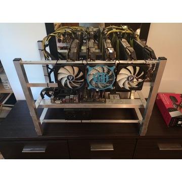 Koparka kryptowalut 5x GTX 1070 8GB