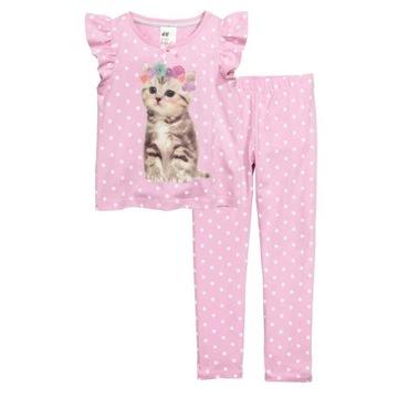H&M dżersejowa piżama 134 140