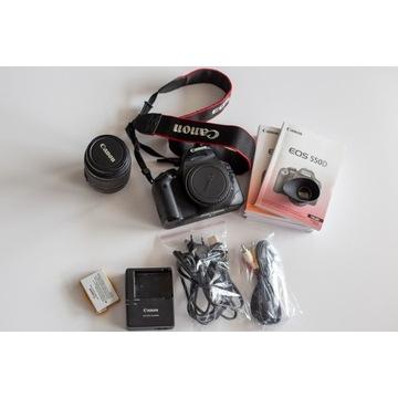 Canon EOS 550D KIT EF-S 18-55 przebieg tylko 7830