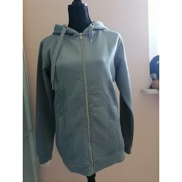 Bluza długa tunika niebieska błękitna M damska
