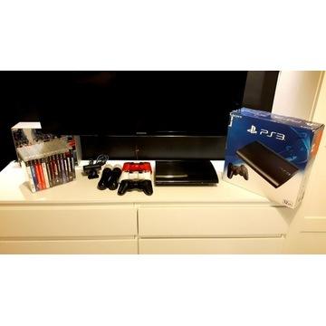 PlayStation 3 SLIM/HDD/3xPADY/14xMEGA GIER/PS MOVE