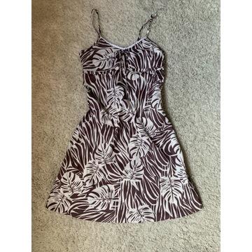 Sukienka 36 letnia biały brązowy yessica