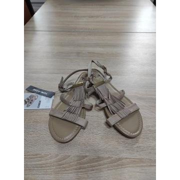 Damskie sandały kremowe rozmiar 41 nowe