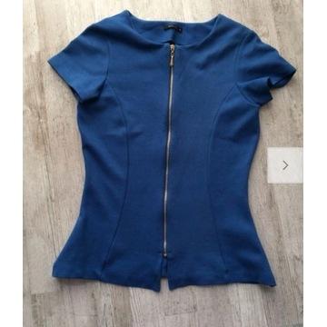 Kobaltowa bluza na zamek Mohito S bluzka narzutka