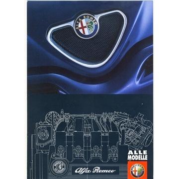 Prospekt Alfa Romeo gama z 1998r.