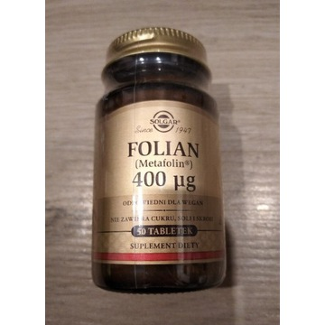Solgar Folian 400ug, 50 tab. NOWY