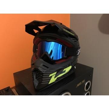 Kask PROGRIP z goglami PROGRIP motocross enduro
