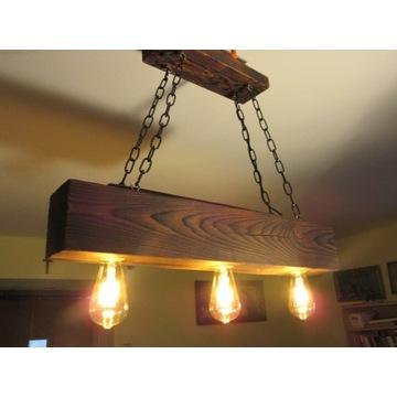 Lampa belka drewniana - altanka, taras, rustykalna