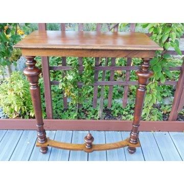 konsola stolik dwie nogi mocowany do sciany XIXw