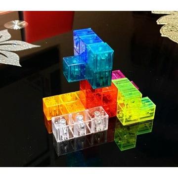 Magnetyczna kostka, klocki, Tetris 3d HIT 2020