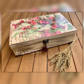 Szkatułka / Herbaciarka Kwiaty