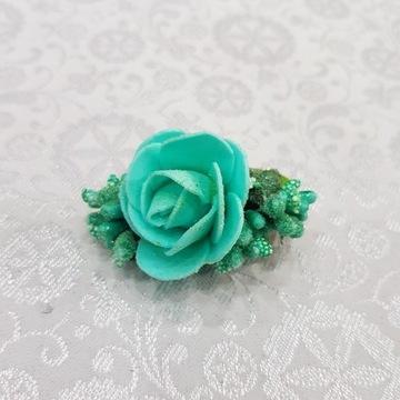 Góralska spinka do włosów - róża, rękodzieło !