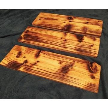 Polki rustykalne lite ze starego drewna