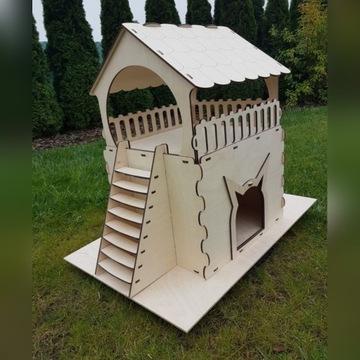 Dom dla kota budka domek taras