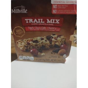 Batoniki proteinowe z USA granola ciemna czekolada