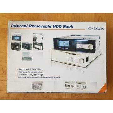 Kieszeń dysku (plus 2 szufl) hdd sata Icy Dock Alu