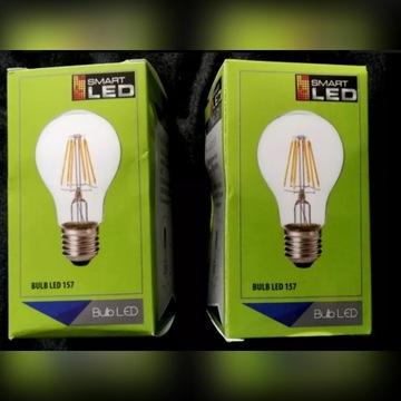2x Żarówka E27 Led Filament 8w Ciepła Edison 760lm