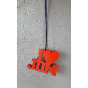 Zawieszka I LOVE JDM * sklejka 3mm, serce ****