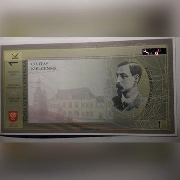 banknot --- 1 korona kielecka