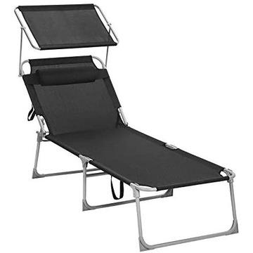Leżak krzesło ogrodowe z osłoną