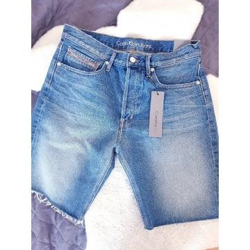 Calvin Klein nowe z metka szorty jeansowe W29