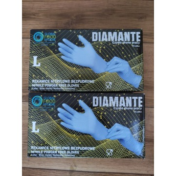 Rękawiczki nitrylowe bezpudrowe 100 szt  L