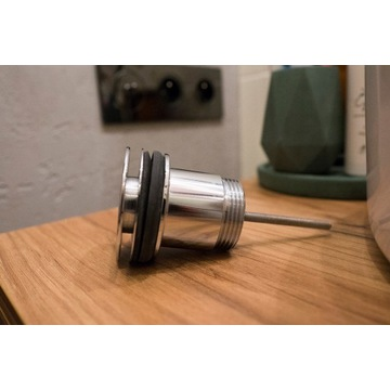 korek do umywalki/ bidetu srebrny