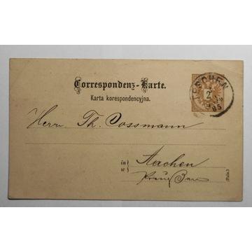 CP 6 Karta CIESZYN 1885 prywatny nadruk