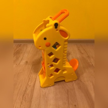 Żyrafa Fisher Price z klockami