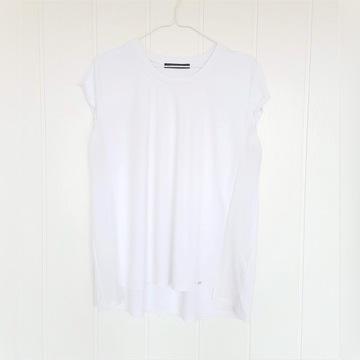 Biała bluzka top Reserved XL 42 lekka luźna na lat