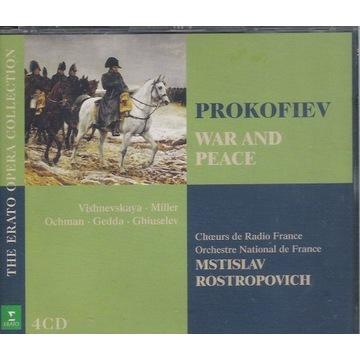 PROKOFIEV War and Peace ROSTROPOVICH 4CD