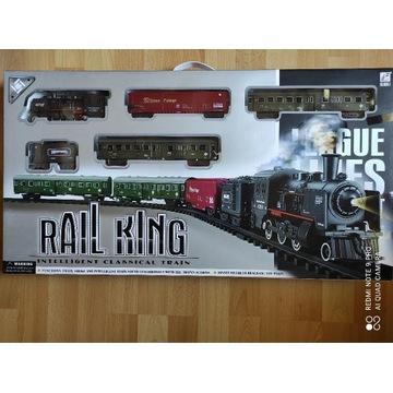 Nowa kolejka elektryczna, tor, lokomotywa + wagony