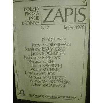 L ZAPIS nr 7/1978  solidarność bibuła drugi obieg
