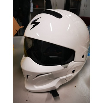 SCORPION EXO-COMBAT KASK SOLID WHITE